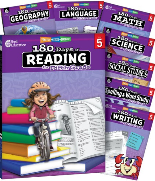 5th Grade 180 Days of Practice 8-Subject Bundle
