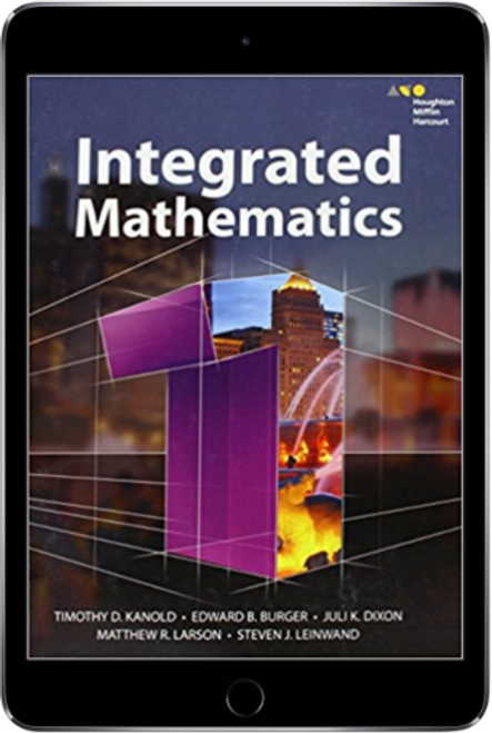 HMH Integrated Mathematics 1 Online Student Edition with Personal Math  Trainer 1 Year Subscription (2015)