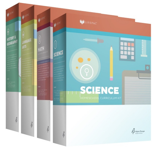 AOP Lifepac 4-Subject Homeschool Kit for Grades 1-12