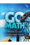 7th Grade Go Math! Middle School Accelerated Student Worktext (2014)
