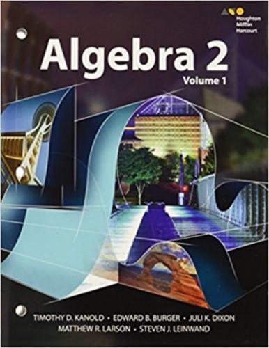 HMH Algebra 2 Interactive Student Editions Volumes 1 2