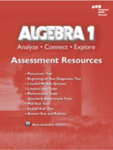 Algebra 1 Analyze Connect Explore Assessment Resources With Answer Key