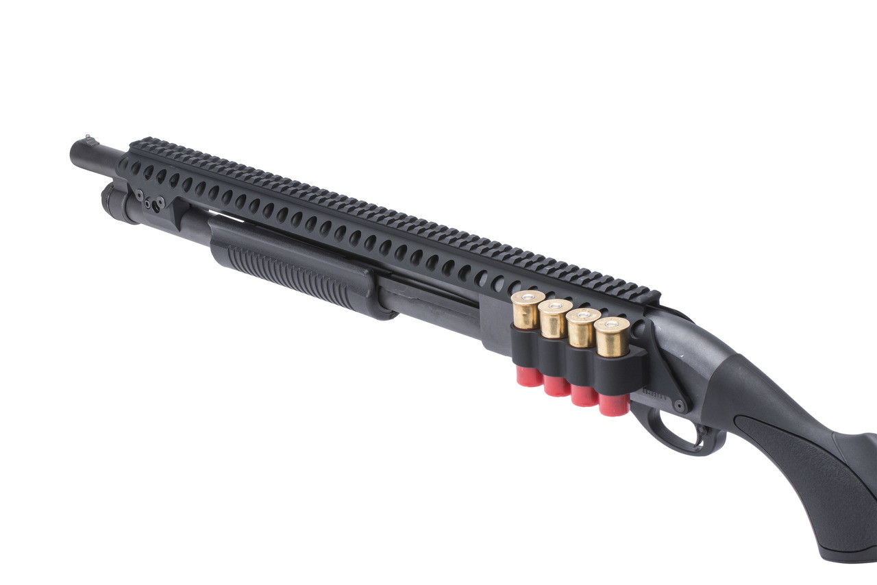 SureShell® Carrier And Saddle Rail For Rem 870 W/ Mag Clamp (4-Shell, 12-GA, 20 In)