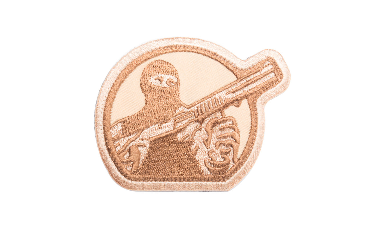 Mesa Tactical Embroidered Patch (Mesa Tactical Guy Logo, Desert Tan)