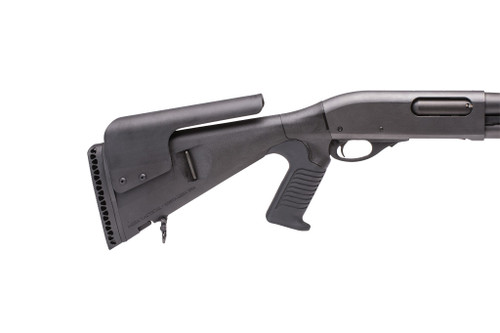 Urbino® Pistol Grip Stock For Remington 870/1100/11-87 (Riser, Standard Butt, 12-GA, Black)