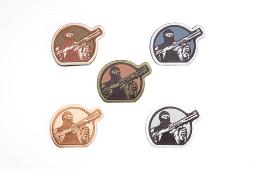 Mesa Tactical Embroidered Patch Pack (Mesa Tactical Guy Logo, Five Patches in Five Colors)