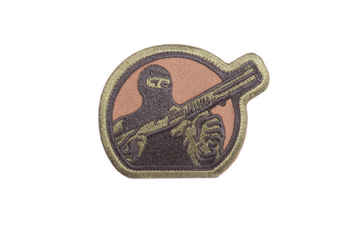 Mesa Tactical Embroidered Patch (Mesa Tactical Guy Logo, Forest Green)