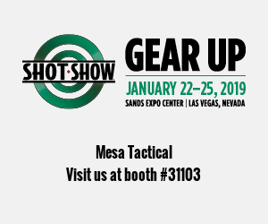 Mesa Tactical is exhibiting at the SHOT Show 2019, Booth 31103