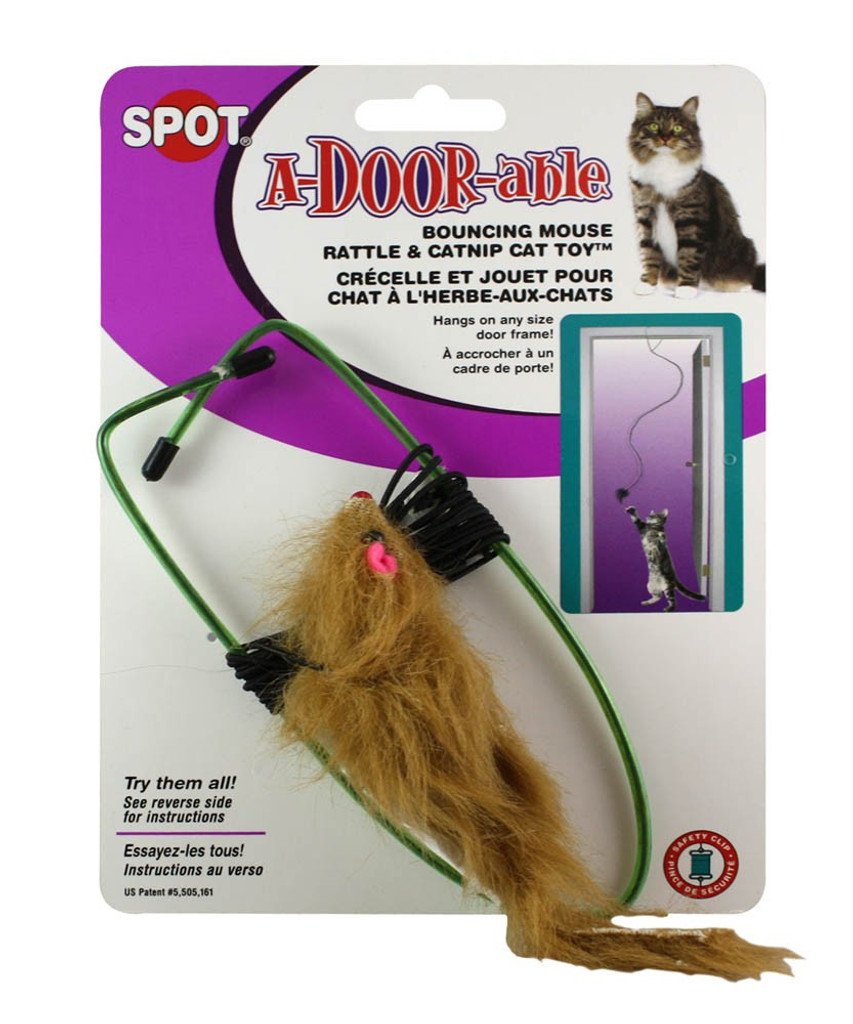 Ethical Pet Spot A-Door-Able Bouncing Mouse | Interactive Catnip Cat Toy