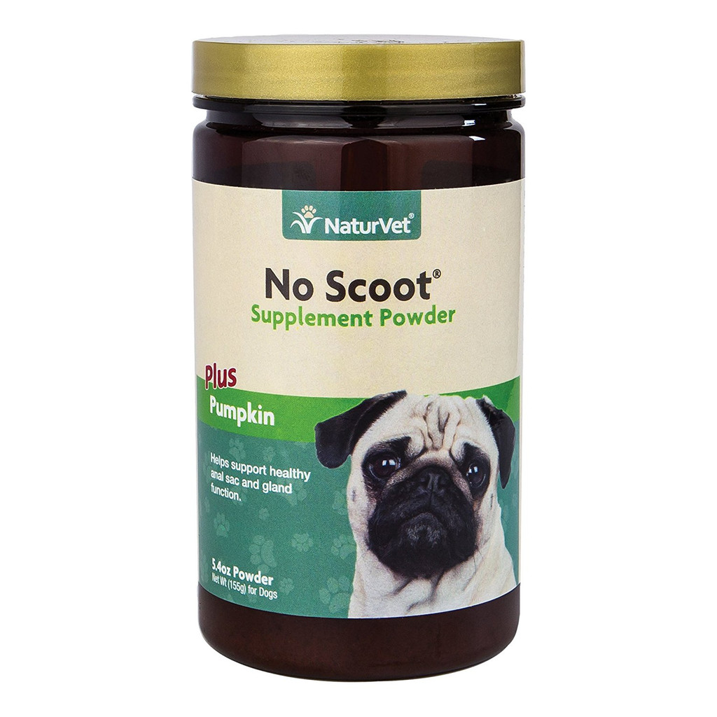 NaturVet NO SCOOT Gently Supports Natural Dog Bowel Function 30 Day 155 grams