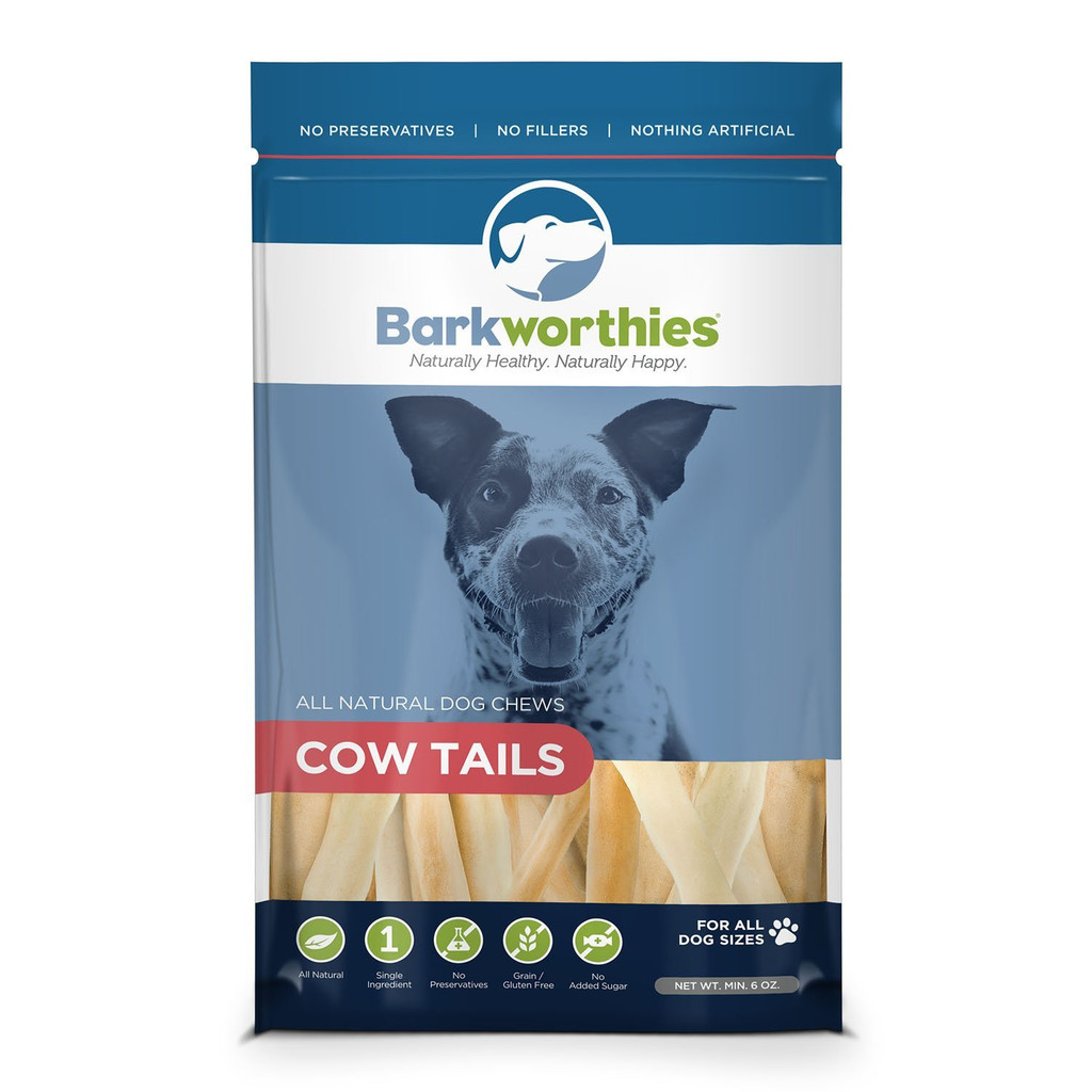 Barkworthies Cow Tails 6 oz | All Natural Dog Chews | Grain-Free
