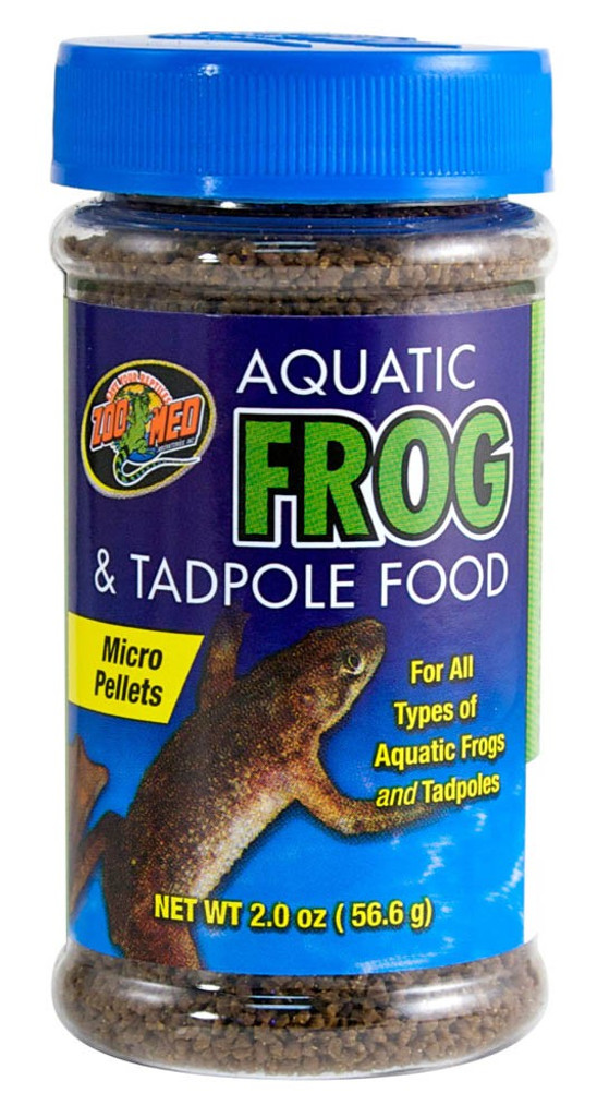 Zoo Med Aquatic Frogs and Tadpoles High Sinking Healthy Food Micro Pellet 2 oz