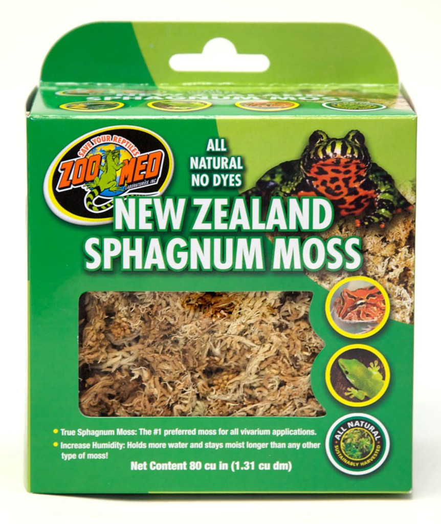 Zoo Med New Zealand Sphagnum Moss Lush Carpet Like All Natural No Dyes 80 cu/in