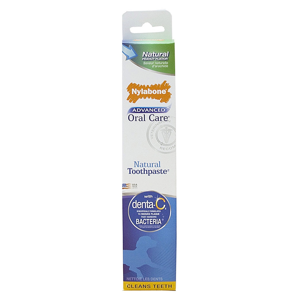 Nylabone Advanced Oral Care Natural Toothpaste   Peanut Butter Flavor 2.5 ounce