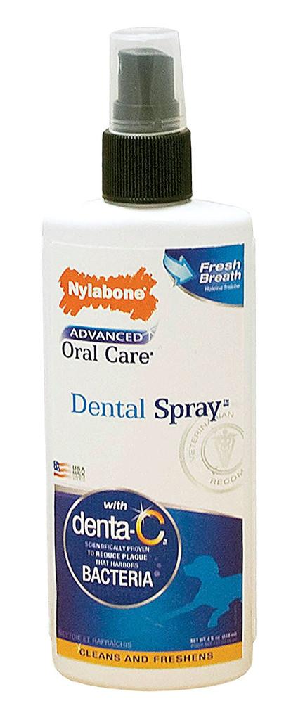 Nylabone Advanced Oral Care Dental Spray 4 ounce   Breath Freshener for Dogs