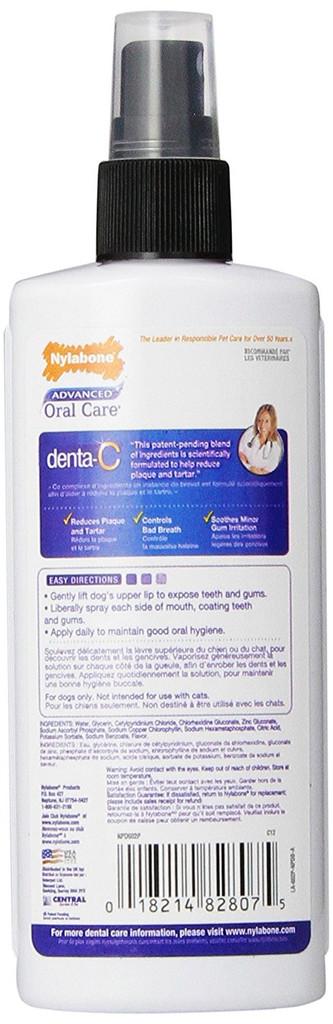 Nylabone Advanced Oral Care Dental Spray 4 ounce | Breath Freshener for Dogs