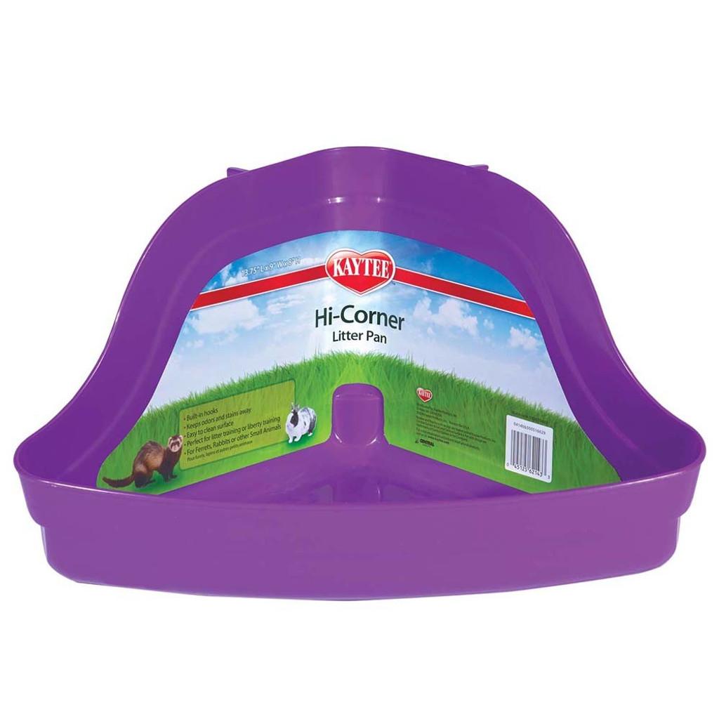 Kaytee Hi-Corner Litter Pan | Plastic Tray for Small Animal Waste