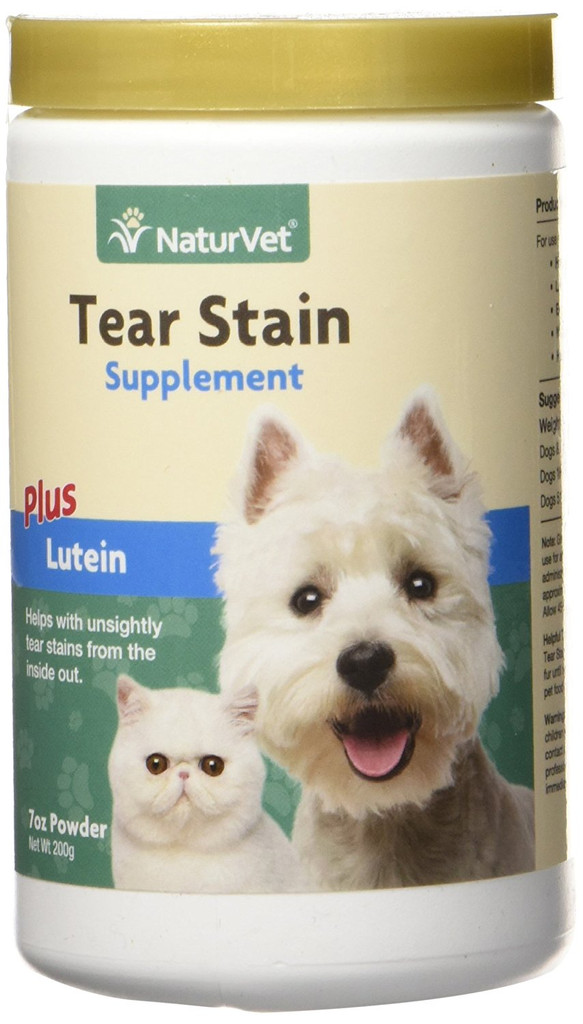 NaturVet TEAR STAIN Removal Dog and Cat All Natural Powder Supplement 200 gram