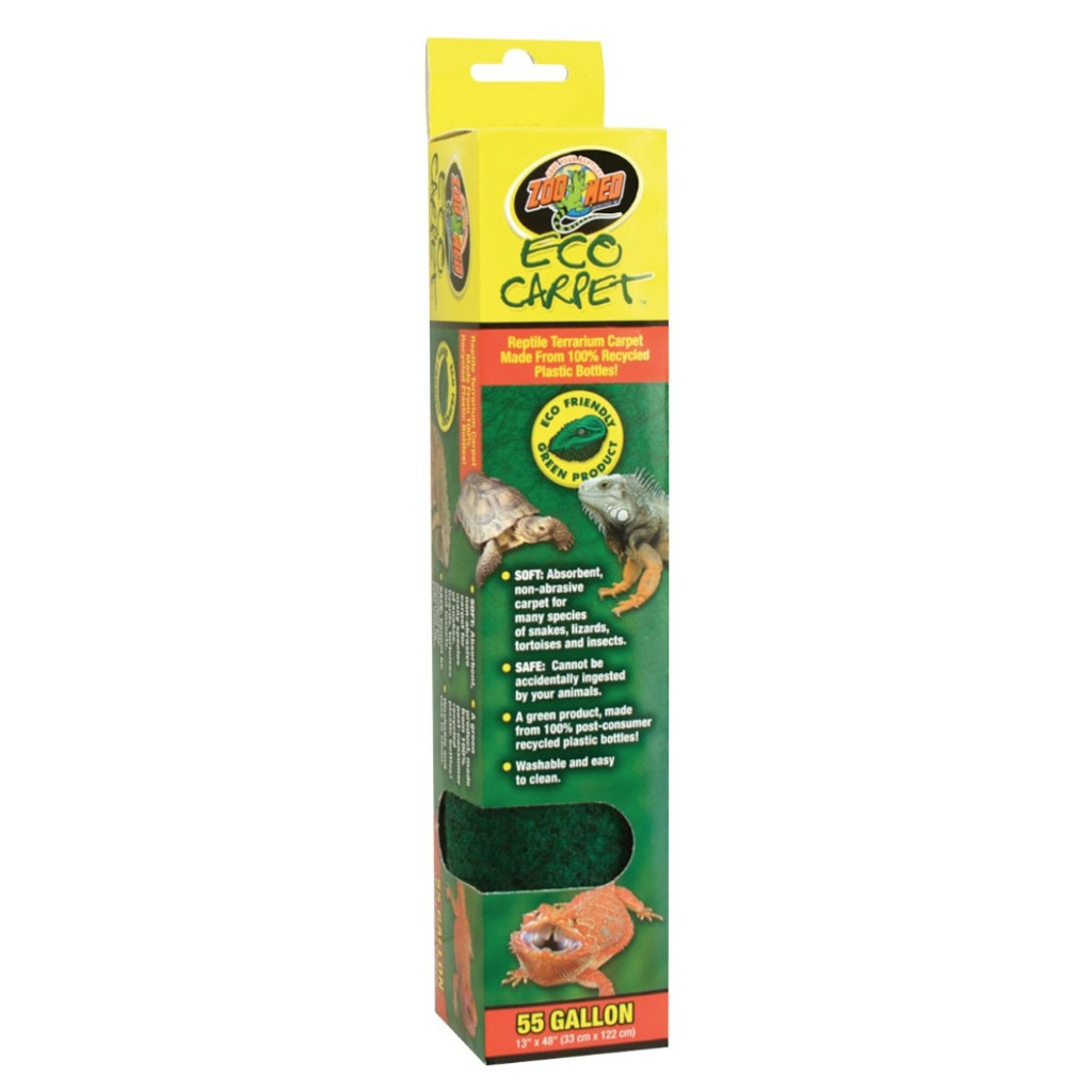Zoo Med Liner Cage Eco Carpet Soft Absorbent Non Abrasive Washable 13x48 55gal.