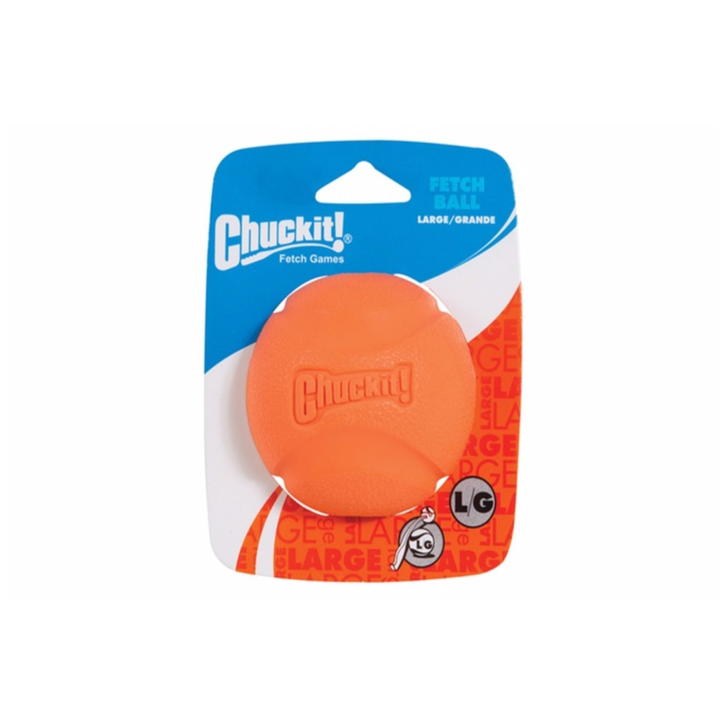 Chuckit FETCH BALL LARGE 3-inch Ball Dog Fetch Toy 1-pack Colors May Vary
