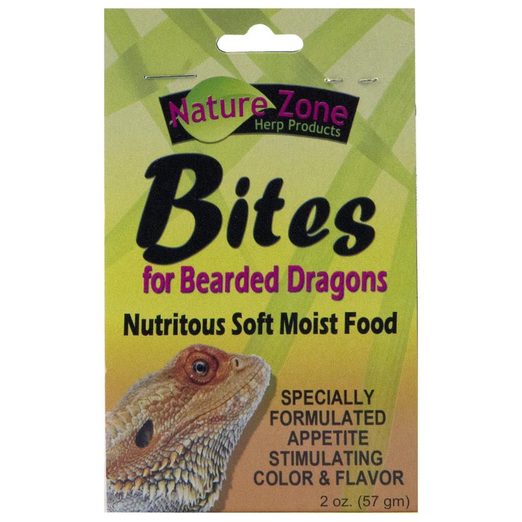 Nature Zone Juvenile Bearded Dragon Bites Nutritious Soft Moist Pet Food 2 oz
