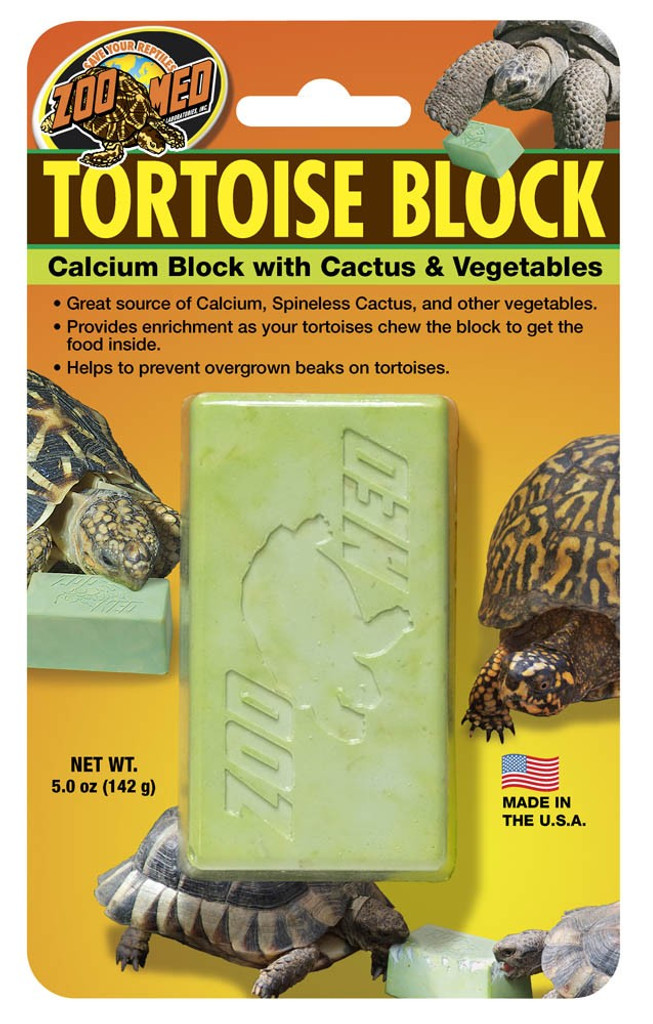 Zoo Med Banquet Tortoise Block Food and Calcium Supplement Treat Turtles Large
