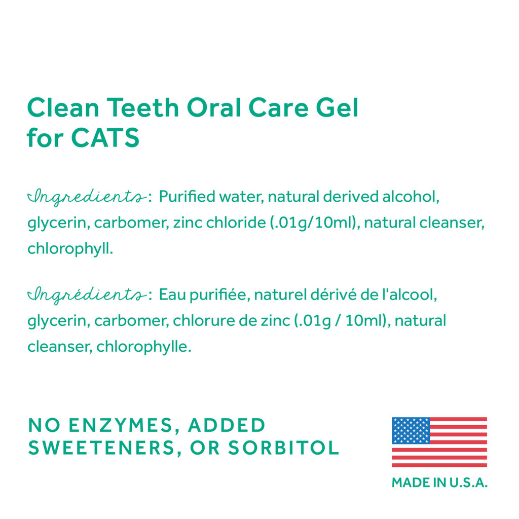 Fresh Breath TropiClean Gel Oral Care Removes Plaque Tartar No Brushing Cats