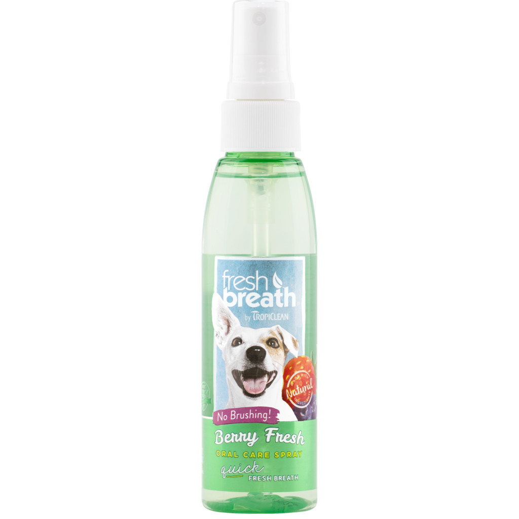 TropiClean Fresh Breath Berry Oral Care Spray for Dogs