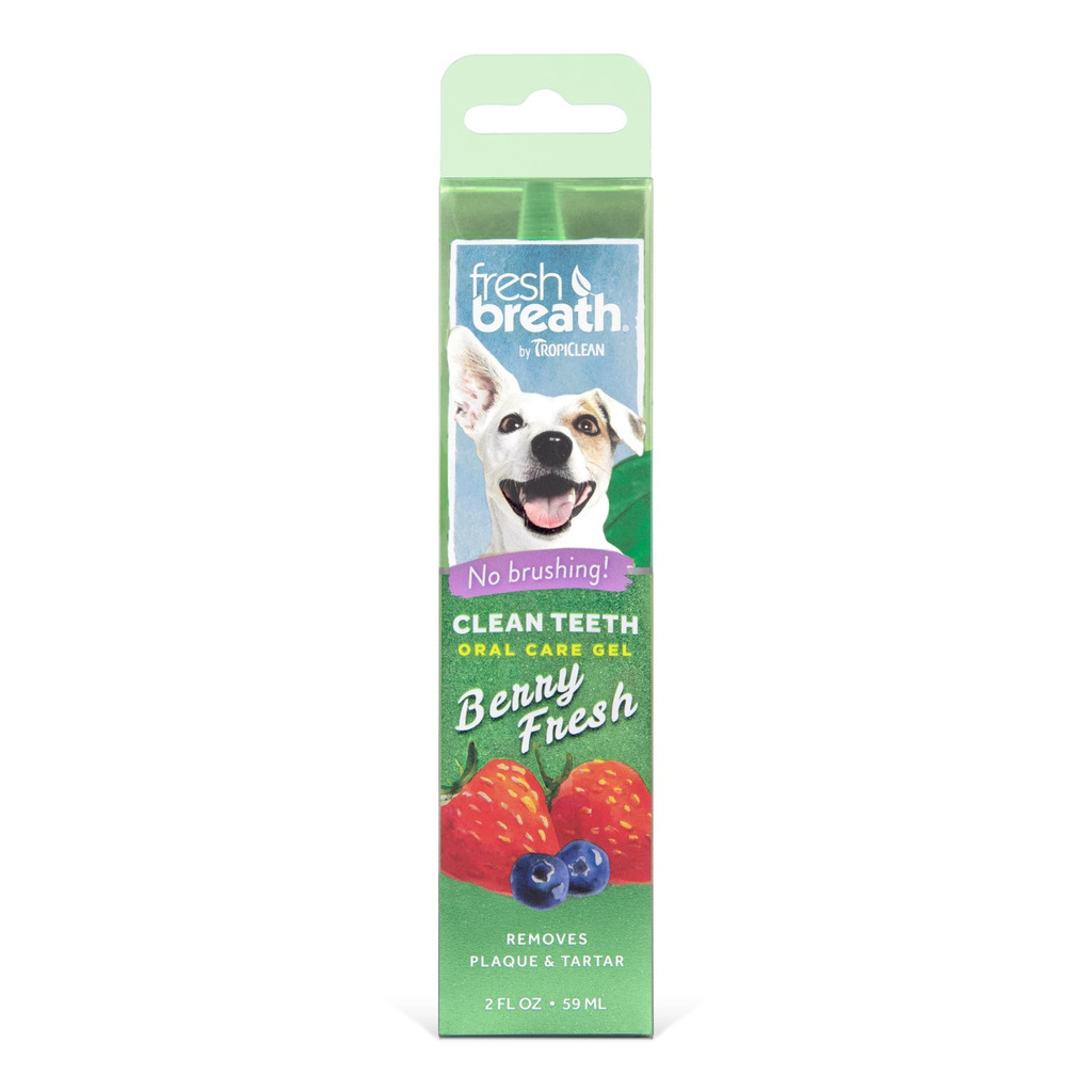 TropiClean Fresh Berry Flavored Gel   Tartar and Plaque Remover 2 oz