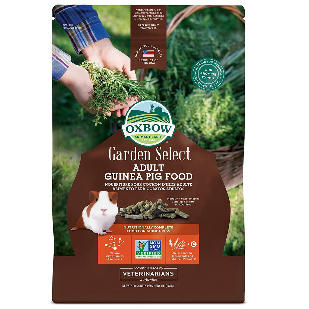 Oxbow Adult Guinea Pig Food- 4 Pound Bag- Garden Select