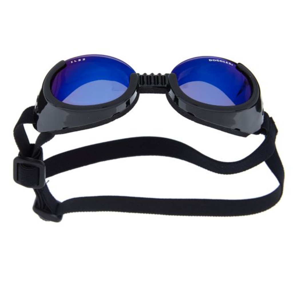 Doggles ILS Black/Mirrored Blue X-Small | Sunglasses | Eye Protection for Dogs