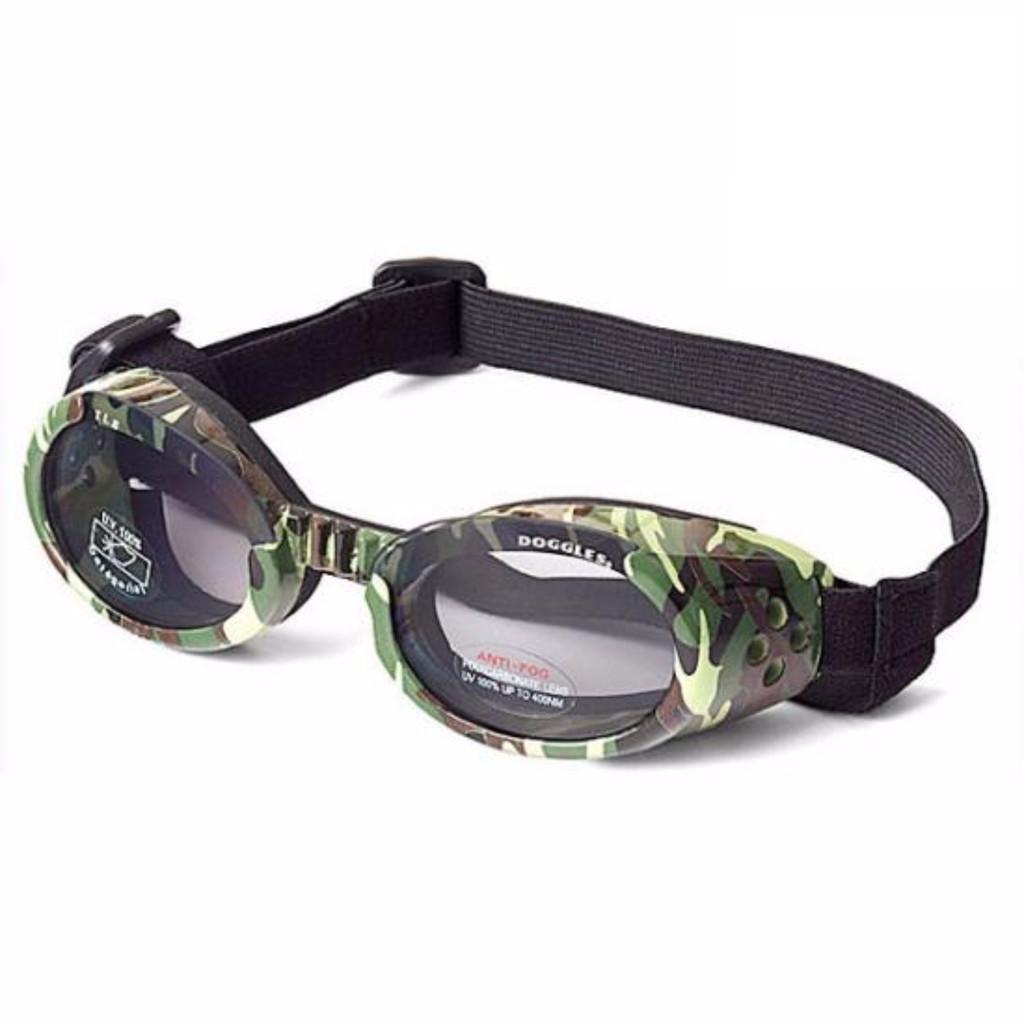 Doggles ILS Camo/Smoke Medium | Goggles/Sunglasses | Eye Protection for Dogs
