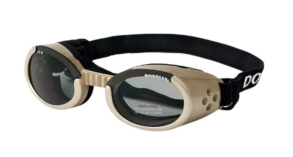 Doggles ILS Chrome/Smoke X-Small | Goggles/Sunglasses | Eye Protection for Dogs