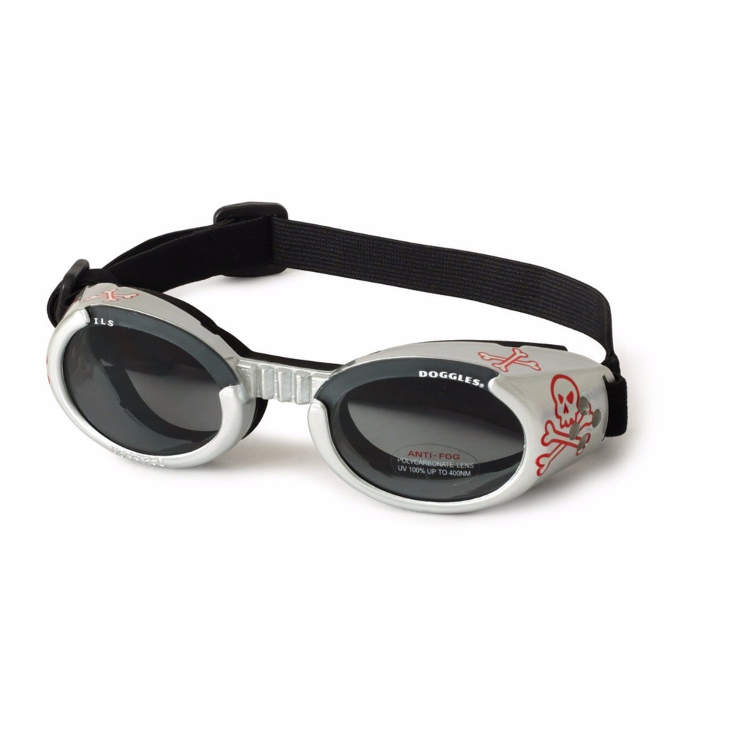 Doggles ILS Skull/Smoke Medium | Goggles/Sunglasses | Eye Protection for Dogs