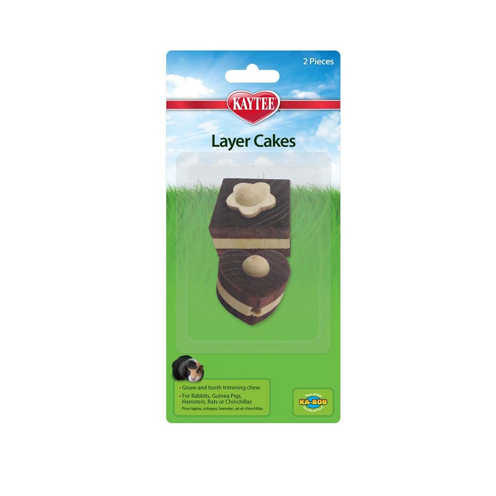 Kaytee Layer Cakes Chew Toy For Rabbits 2pc