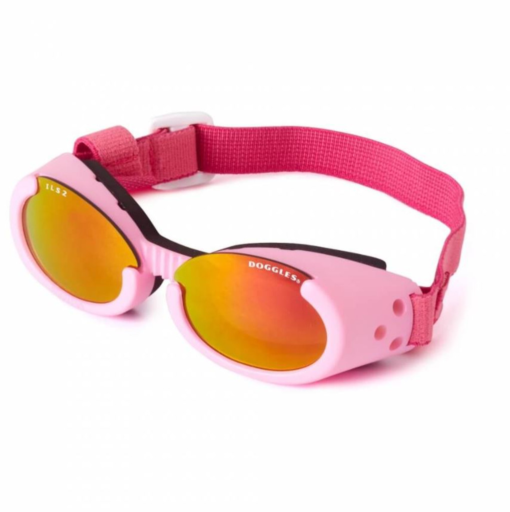 Doggles ILS Dog Goggles Sunglasses Pink/Pink X-Small