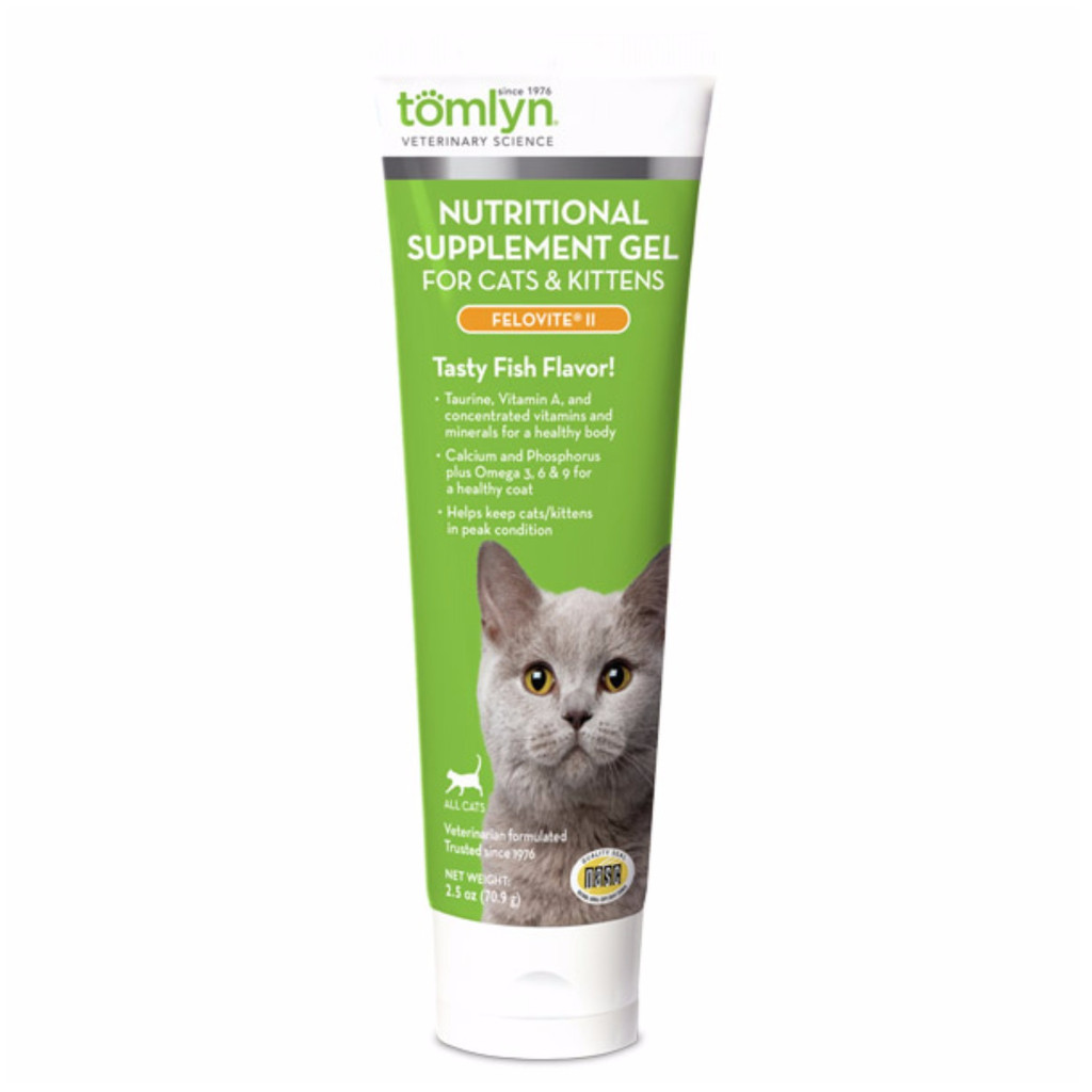 Tomlyn Felovite II with Taurine Supplement for Cats Dogs Food Tuna Flavored