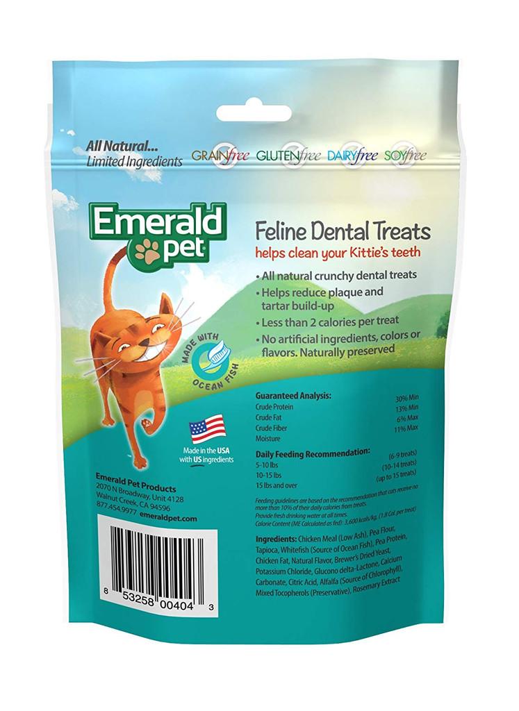 Emerald Pet Feline Dental Treats Ocean Fish Flavor 3 ounces