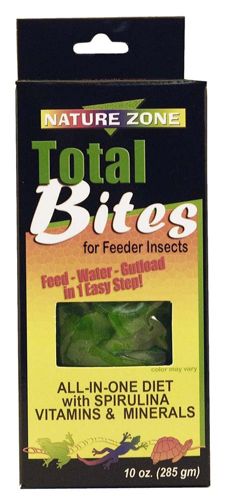 Nature Zone Total Bites with Spirulina Complete Diet Food for Crickets 9 ounces
