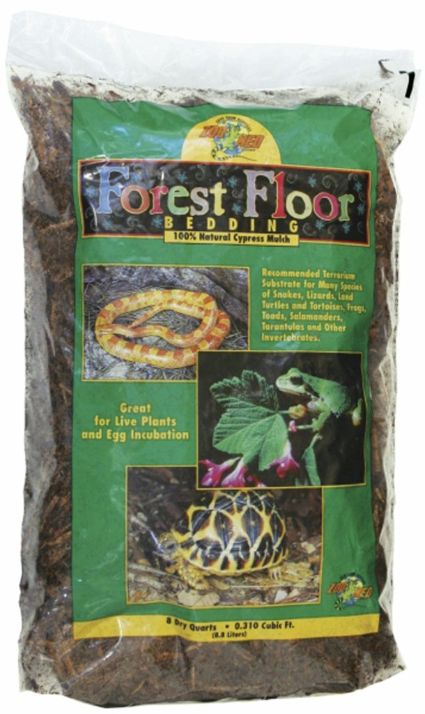 Zoo Med Natural Cypress Mulch Forest Floor Bedding For Snakes Amphibians 8 quart