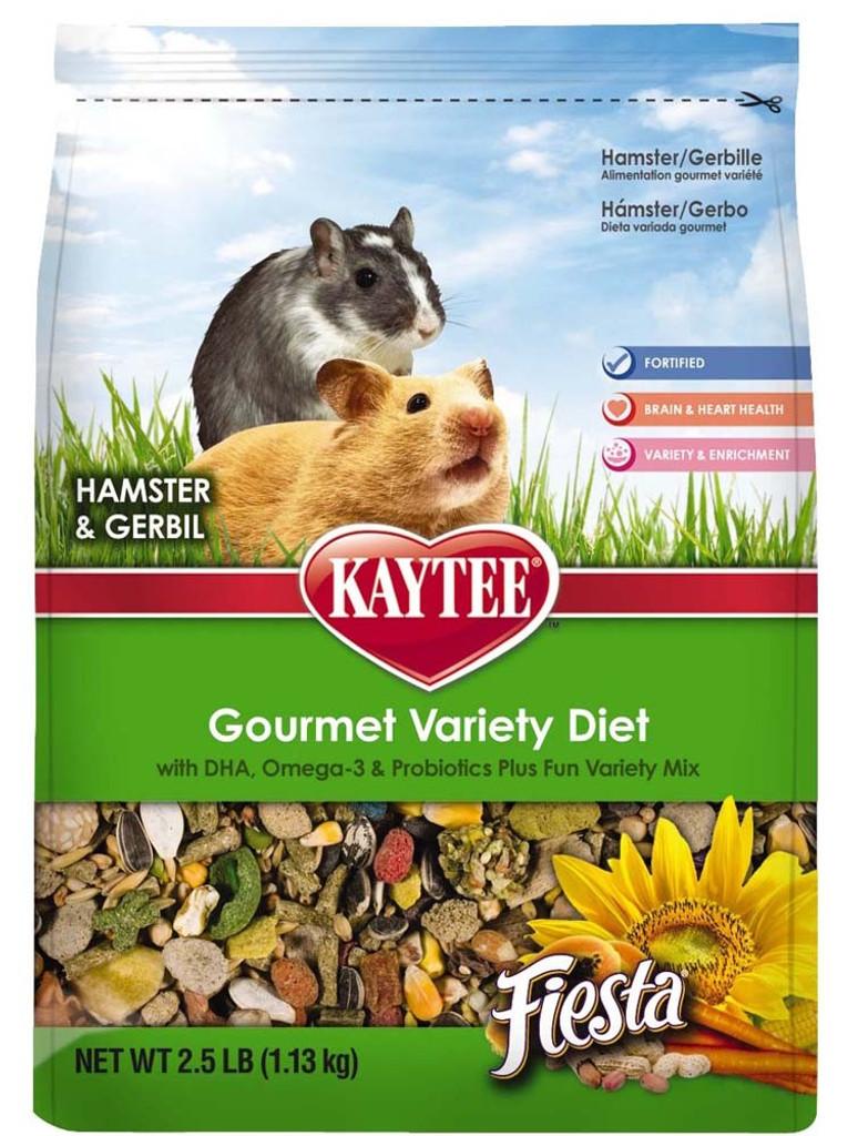 Kaytee Fiesta Max Hamster Gerbil Gourmet Variety Diet DHA Nutrition Food 2.5 lbs