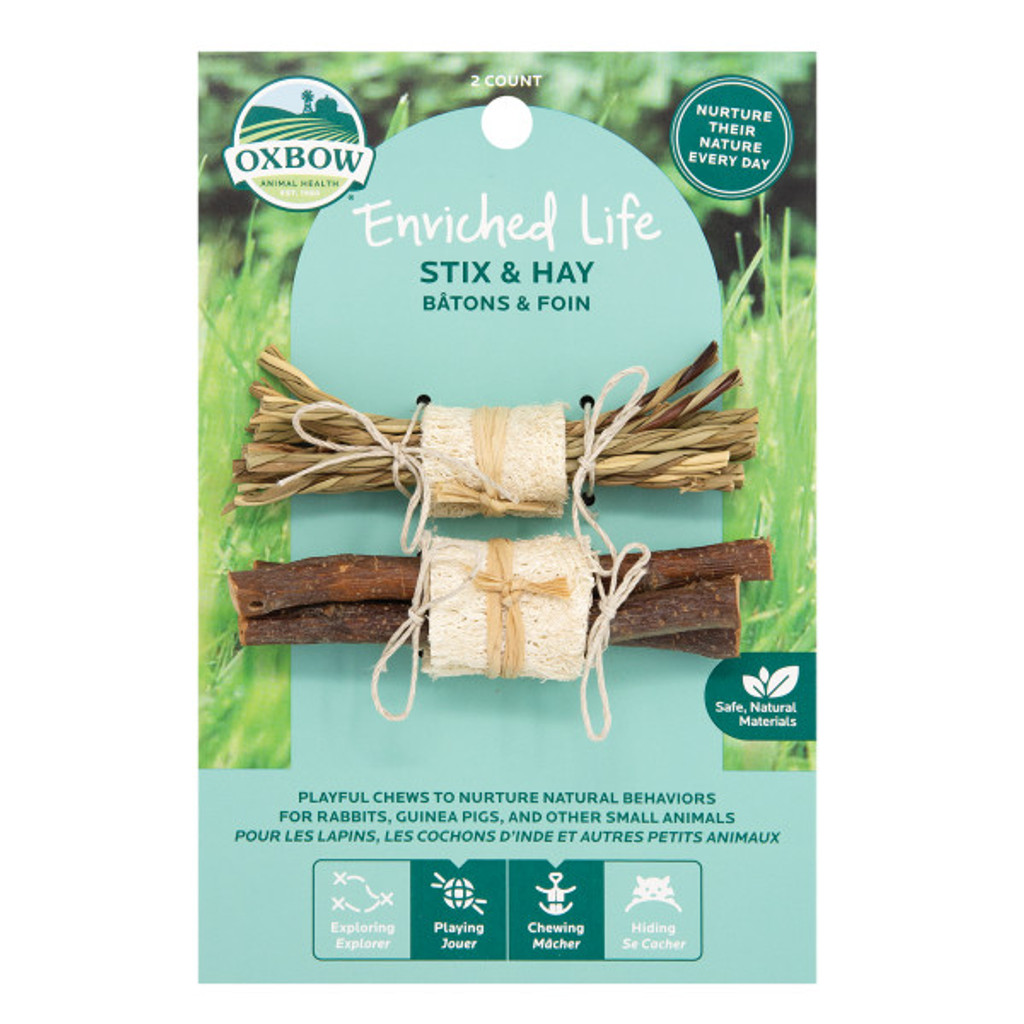 Oxbow Enriched Life Stix and Hay for Small Animals