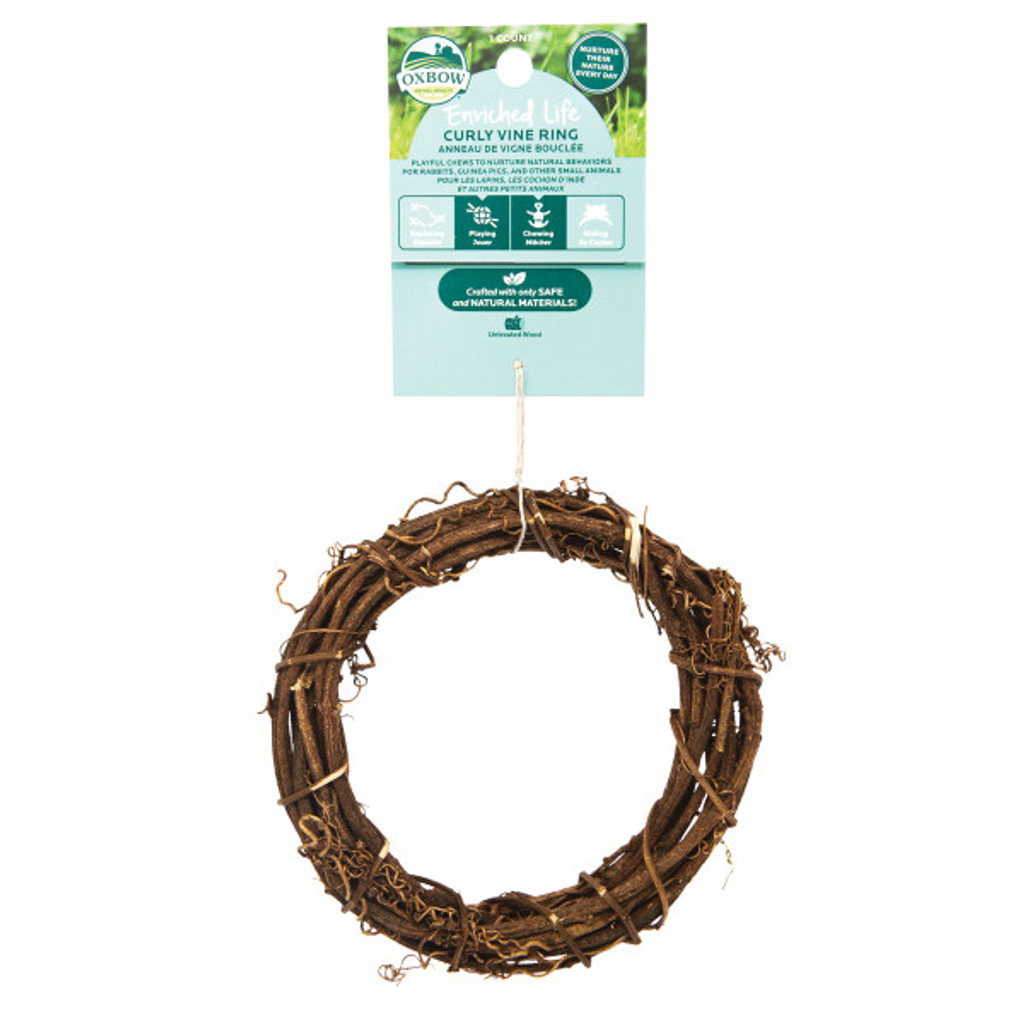 Oxbow Enriched Life Curly Vine Ring for Small Animals
