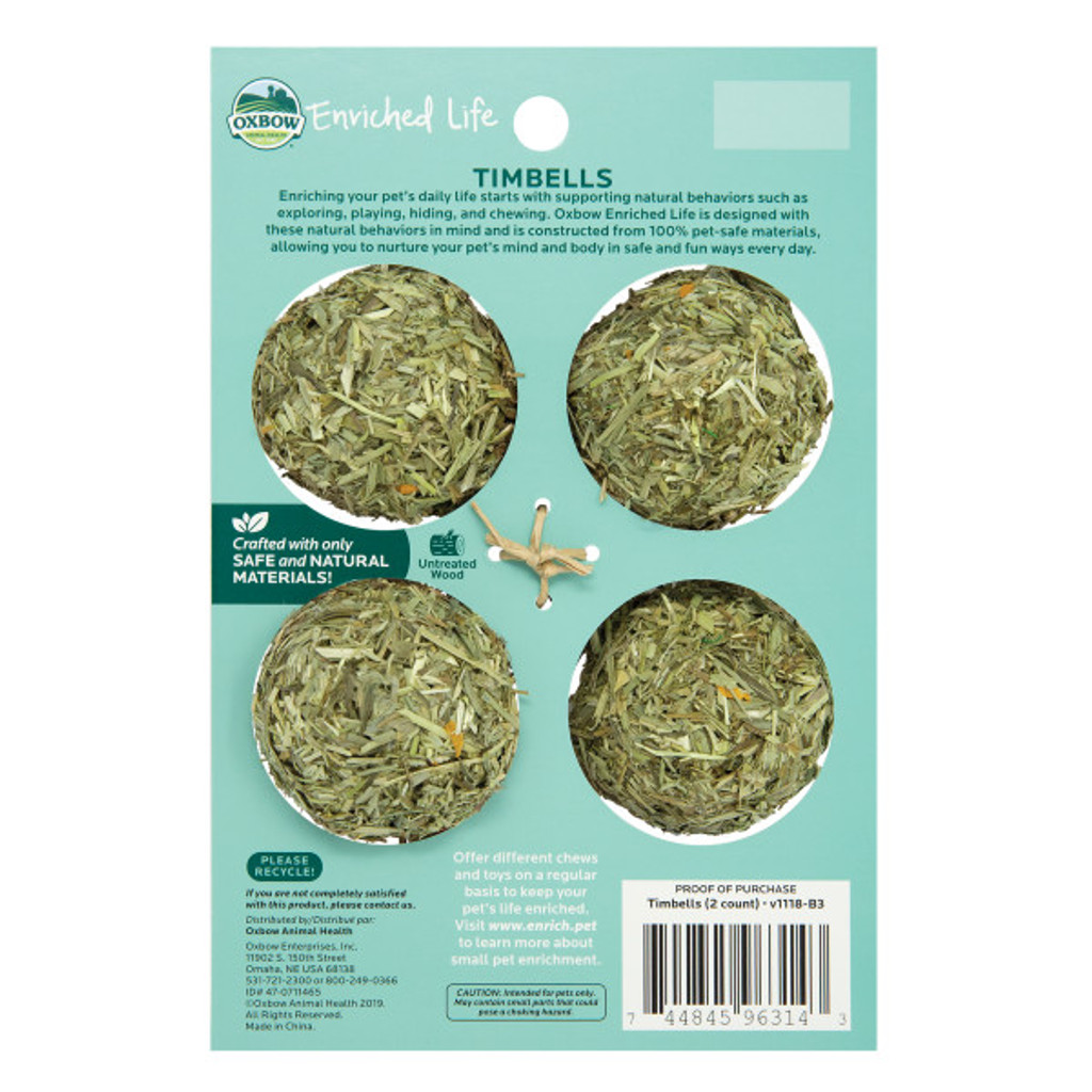 Oxbow Enriched Life Timbells for Small Animals