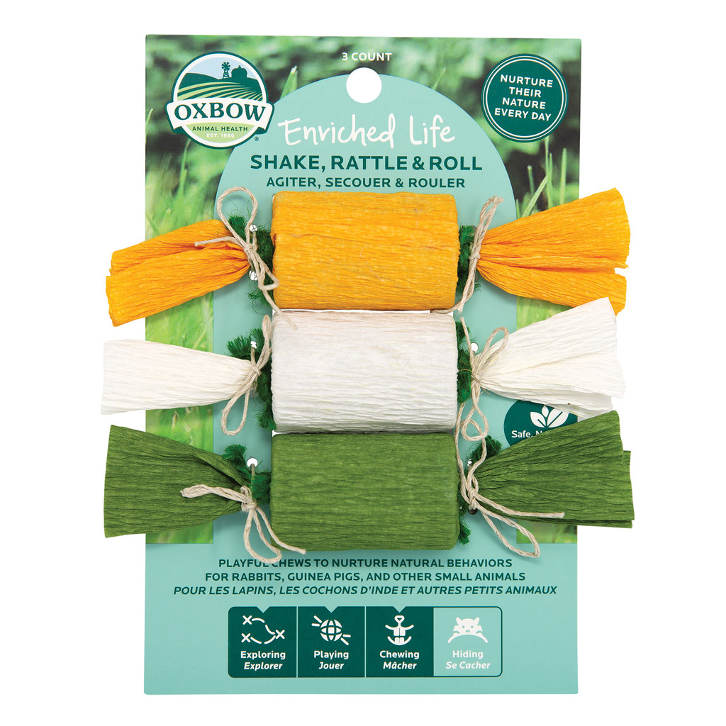 Oxbow Enriched Life Shake, Rattle & Roll Toy for Small Animals