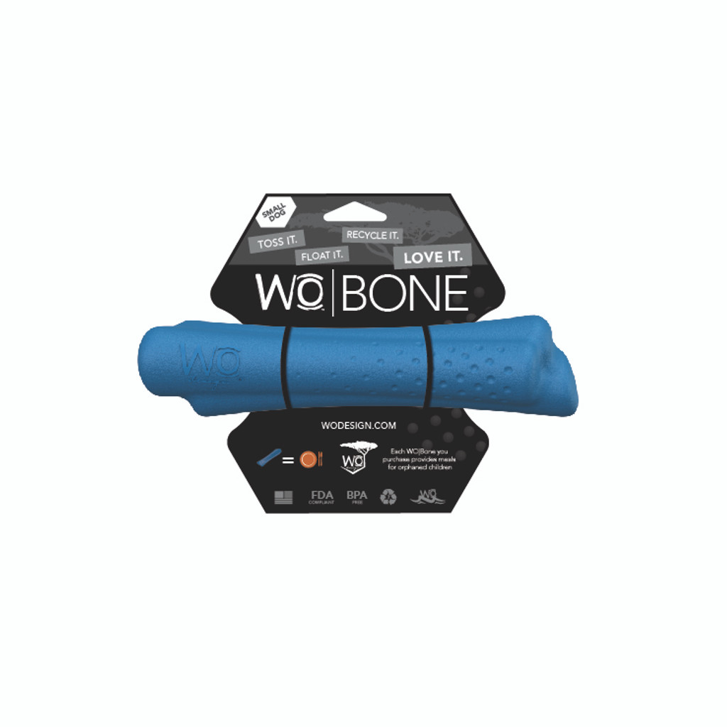 WO Bone Small Blue Bone Toy for Small Dogs