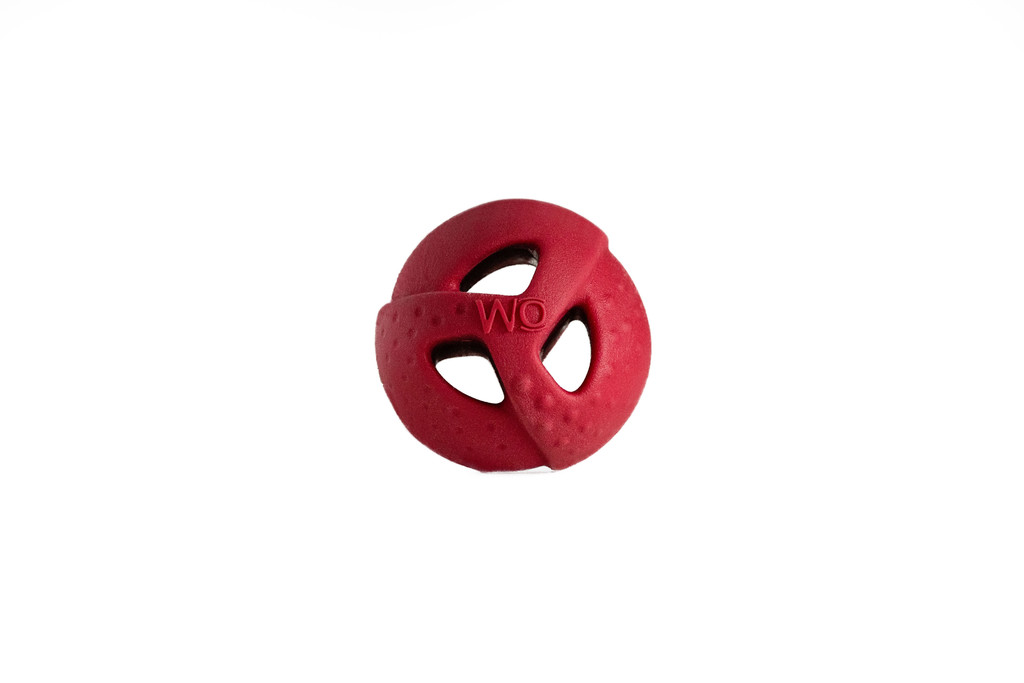 WO Ball Cranberry Ball Toy for Dogs