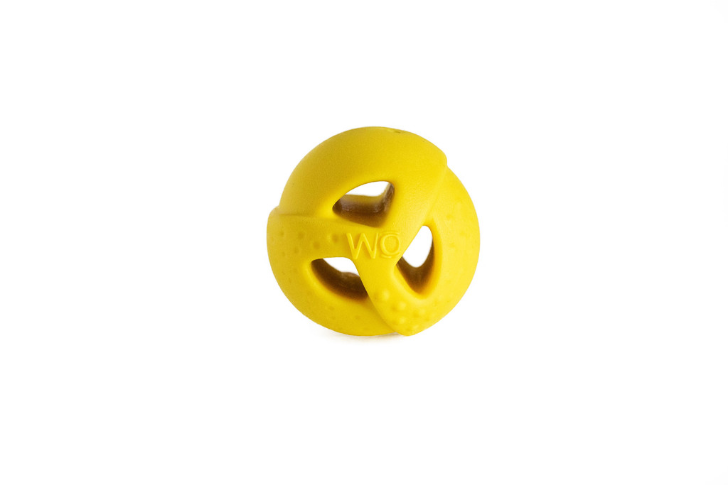 WO Ball Yellow Ball Toy for Dogs