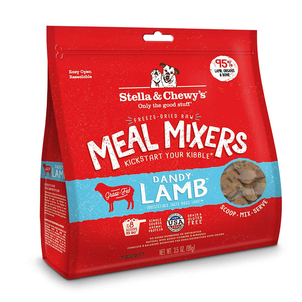 Stella and Chewy's Freeze-Dried Raw Dandy Lamb Meal Mixers for Dogs 3.5 ounce
