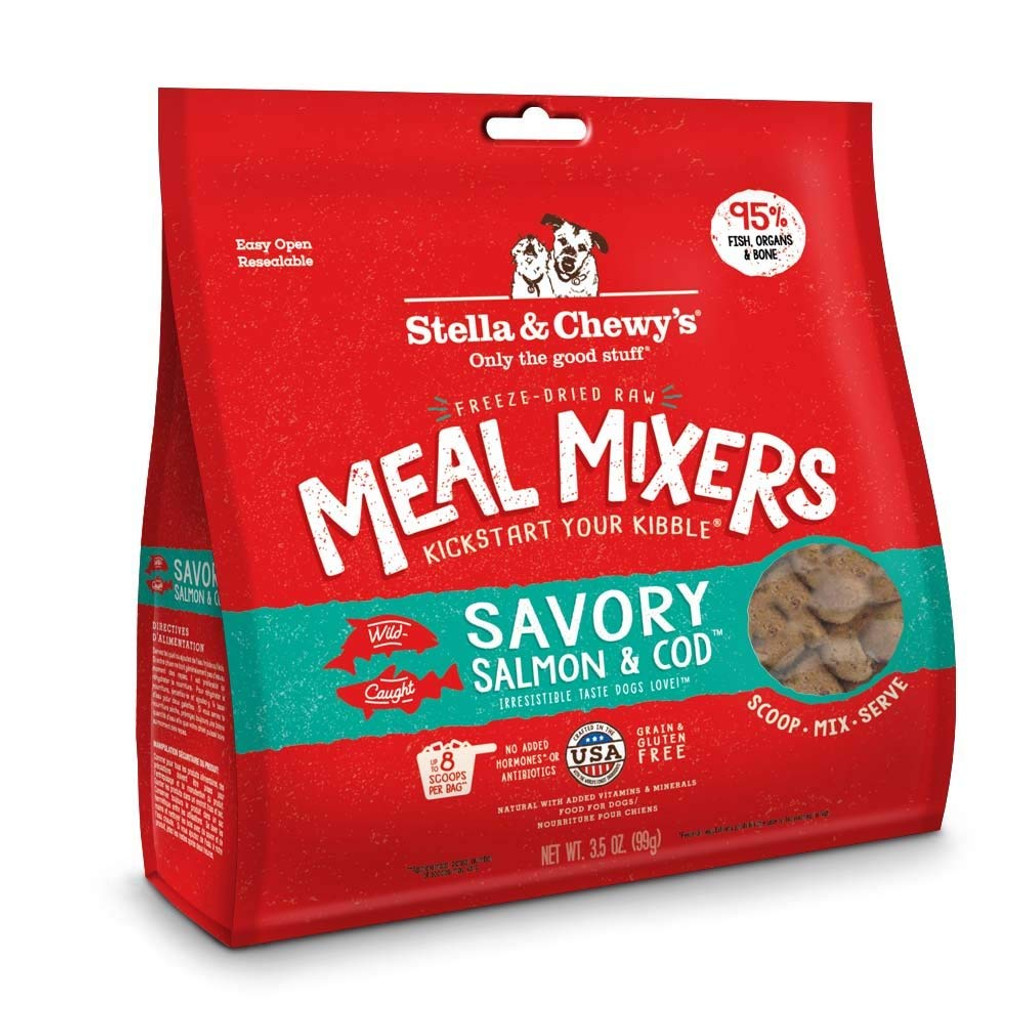 Stella and Chewy's Freeze-Dried Raw Salmon and Cod Meal Mixers for Dogs 3.5 oz
